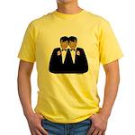 Two Grooms Ethnic Yellow T-Shirt