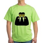 Two Grooms Ethnic Green T-Shirt