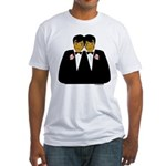 Two Grooms Ethnic Fitted T-Shirt