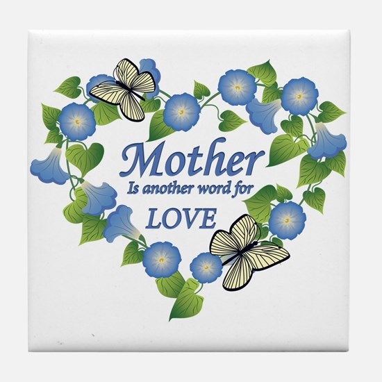 Mother's Love Heart Tile Coaster