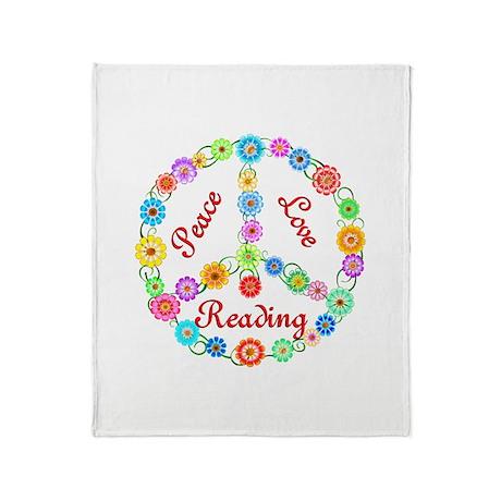 Peace Love Reading Throw Blanket