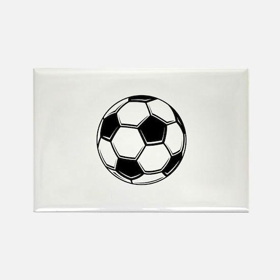 Soccer Themed Rectangle Magnet