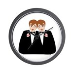 Gay Wedding Wall Clock