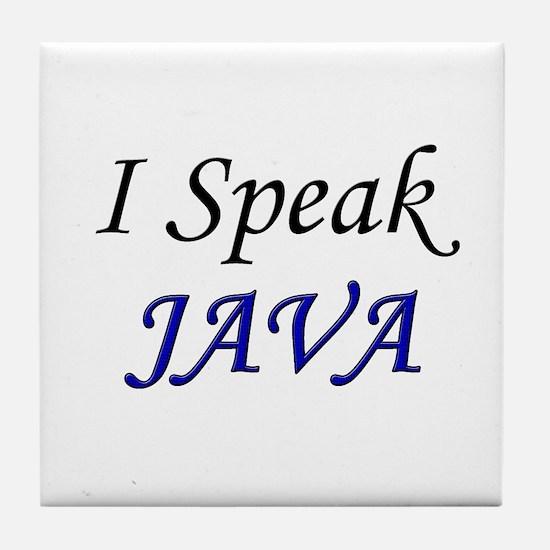 """""""I Speak Java"""" Tile Coaster"""