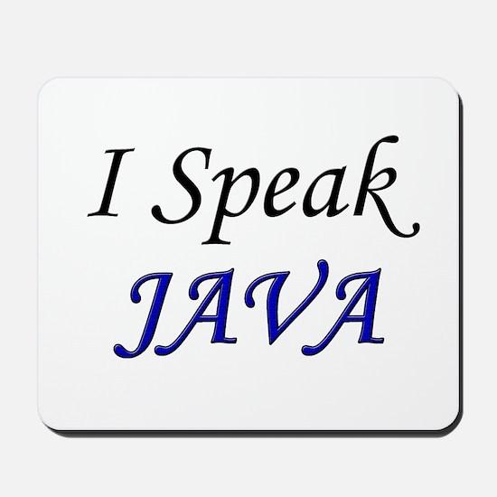 """""""I Speak Java"""" Mousepad"""
