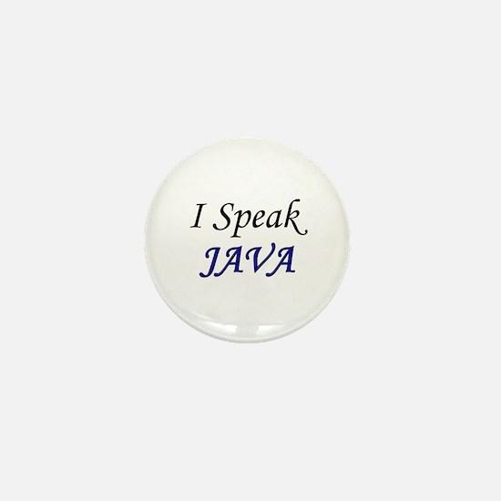 """I Speak Java"" Mini Button"