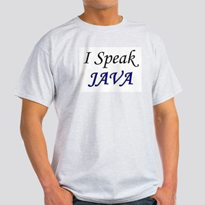 """""""I Speak Java"""" Ash Grey T-Shirt"""