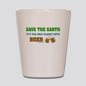 Save The Beer Shot Glass