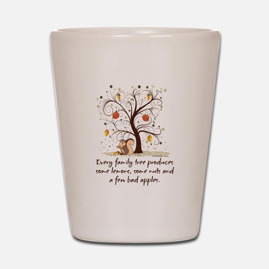 Family Tree Humor Shot Glass