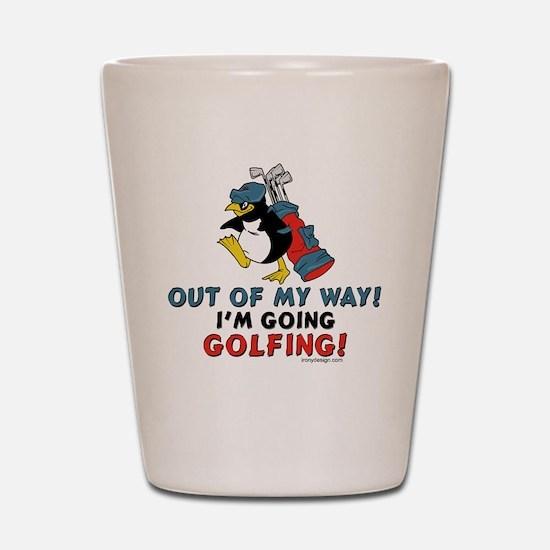 Golfing Penguin Shot Glass