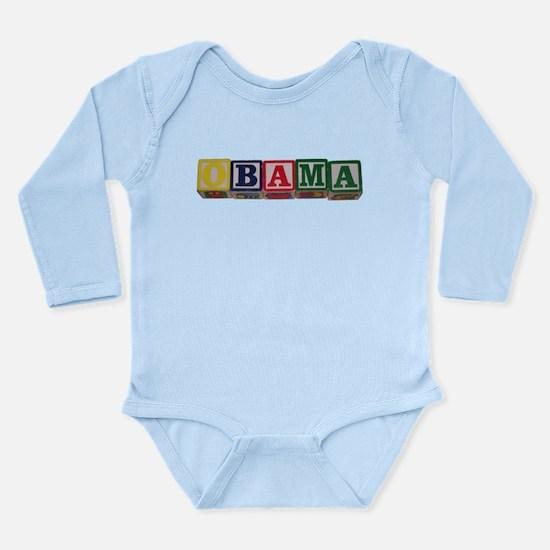 Babies FOR OBAMA 2012 Long Sleeve Infant Bodysuit
