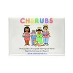 CHERUBS Logo - Pastel Rectangle Magnet (100 pack)