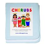 CHERUBS Logo - Bright baby blanket