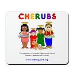 CHERUBS Logo - Bright Mousepad