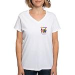 CHERUBS Logo - Bright Women's V-Neck T-Shirt