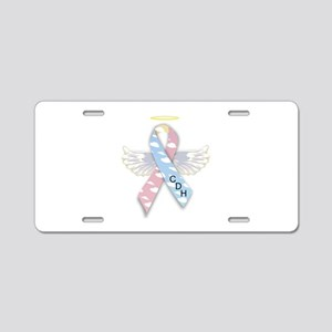 Winged CDH Awareness Ribbon Aluminum License Plate