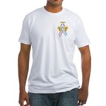 Kids Winged CDH Awareness Ribbon Fitted T-Shirt