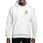 Kids Winged CDH Awareness Ribbon Hooded Sweatshirt