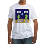 Alien Travel Advisory Fitted T-Shirt
