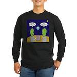 Alien Travel Advisory Long Sleeve Dark T-Shirt