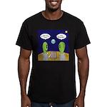 Alien Travel Advisory Men's Fitted T-Shirt (dark)