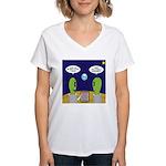Alien Travel Advisory Women's V-Neck T-Shirt
