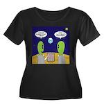 Alien Tr Women's Plus Size Scoop Neck Dark T-Shirt