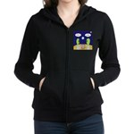 Alien Travel Advisory Women's Zip Hoodie