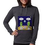 Alien Travel Advisory Womens Hooded Shirt