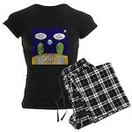 Alien Travel Advisory Women's Dark Pajamas