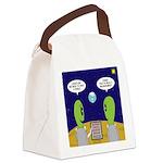 Alien Travel Advisory Canvas Lunch Bag