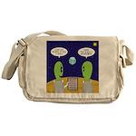 Alien Travel Advisory Messenger Bag