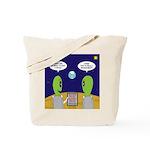 Alien Travel Advisory Tote Bag