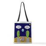 Alien Travel Advisory Polyester Tote Bag