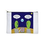 Alien Travel Advisory Makeup Bag