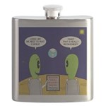 Alien Travel Advisory Flask