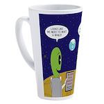 Alien Travel Advisory 17 oz Latte Mug