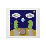 Alien Travel Advisory Plush Fleece Throw Blanket