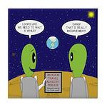 Alien Travel Advisory Tile Coaster