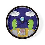 Alien Travel Advisory Wall Clock