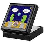 Alien Travel Advisory Keepsake Box