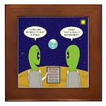 Alien Travel Advisory Framed Tile