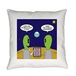 Alien Travel Advisory Everyday Pillow