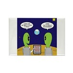 Alien Travel Advisory Rectangle Magnet (10 pack)