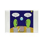 Alien Travel Advisory Rectangle Magnet (100 pack)
