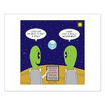 Alien Travel Advisory Small Poster