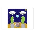 Alien Travel Advisory Postcards (Package of 8)