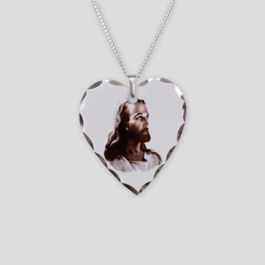 Jesus Necklace Heart Charm