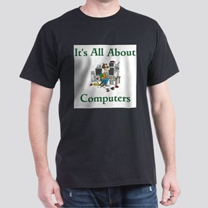 It's All About Computers Ash Grey T-Shirt