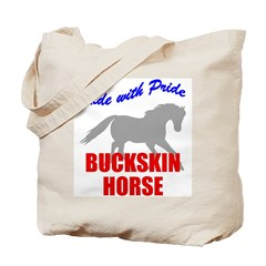 Ride With Pride Buckskin Horse Tote Bag